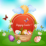 Easter card with Easter eggs . vector illustration