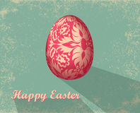 Easter card with egg Royalty Free Stock Images