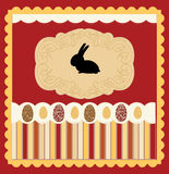 Easter card with egg decorated vector Stock Images