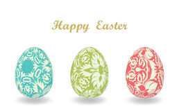 Easter card with egg Royalty Free Stock Photos