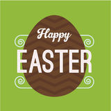 Easter card with egg Stock Photography