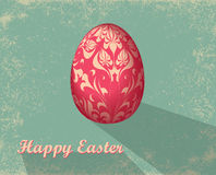 Easter card with egg Stock Photo