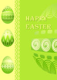 Easter card with  eggs Stock Photos
