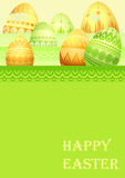 Easter card with eggs Royalty Free Stock Images