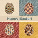 Easter card with eggs and banner. Royalty Free Stock Photos