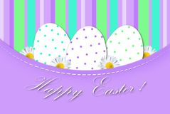 Easter card with eggs in dots Royalty Free Stock Photo