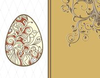 Easter card with eggs on floral background Royalty Free Stock Photography