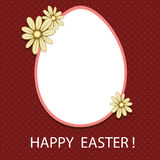 Easter card with eggs and flowers. Vector Easter card with egg, shade and flowers on a red background Royalty Free Stock Image