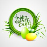 Easter card with eggs and flowers. Vector Royalty Free Stock Images