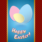 Easter card with eggs for greeting Stock Image