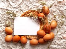Easter card, Easter eggs, Retro spring background Stock Photo