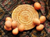 Easter card, Easter eggs, Retro spring background Stock Image