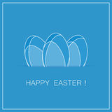 Easter card with eggs. vector Stock Image
