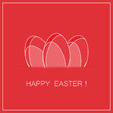 Easter card with eggs. vector Royalty Free Stock Images