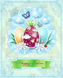 Easter card with eggs, in vintage style Royalty Free Stock Photos
