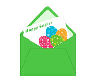 Easter card with envelope Stock Images