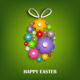 Easter card with floral egg Royalty Free Stock Images