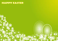 Easter card with floral motif Royalty Free Stock Photo