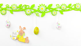 Easter card with floral vine Royalty Free Stock Images