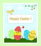 Easter card with frame for text Stock Photo