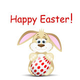 Easter card with funny rabbit. On a white background Royalty Free Stock Images