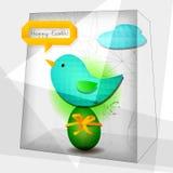 Easter card geometric Stock Image