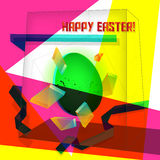 Easter card geometric Royalty Free Stock Photography
