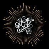 Easter Card. Golden Light Rays Background. 10 eps royalty free illustration