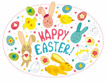 Easter Card With Graphical Elements Royalty Free Stock Photography