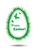 Easter card with grass Royalty Free Stock Image