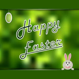 Easter card with green abstract background Royalty Free Stock Image