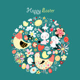 Easter card greeting Stock Photos