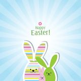Easter card - greeting card with copy space Royalty Free Stock Photos