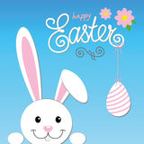 Easter card happy bunny Royalty Free Stock Photos