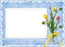 Easter card for the holiday Stock Photography