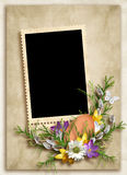 Easter card for the holiday on the abstract background Stock Images