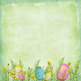 Easter card for the holiday  with egg Royalty Free Stock Photos