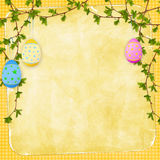 Easter card for the holiday with egg stock illustration