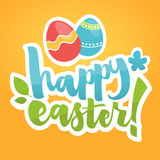 Easter card illustration. Hand Lettering, Calligraphy Vector.  Royalty Free Stock Images