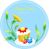 Easter card. Illustration on the theme of Easter Stock Image