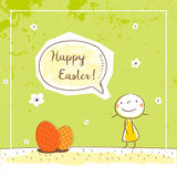 Easter card kids Stock Images
