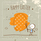 Easter card kids Stock Photography