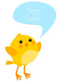 Easter card with little chicken Royalty Free Stock Photo