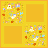 Easter card in orange tones Royalty Free Stock Photo