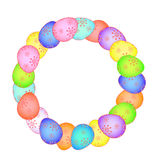 Easter card with painted eggs  EPS Stock Photography