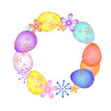 Easter card with painted eggs  EPS Stock Photo