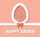 Easter card with paper egg Royalty Free Stock Photography