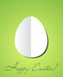 Easter card with paper egg. And greetings Stock Images