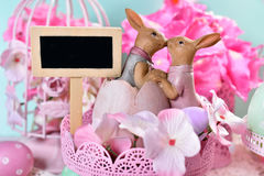 Easter card in pastel colors Stock Photos