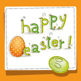 Easter card peeping chicks Royalty Free Stock Photography